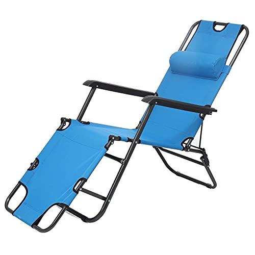 LXRZLS Silla de Pesca Plegable Picnic Camping Silla Plegable Playa Chaise Portátil Fácil de Transportar Playa al Aire Libre Muebles Patio Sillas (Color : Blue)
