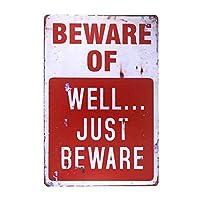 よく注意してください 金属板ブリキ看板警告サイン注意サイン表示パネル情報サイン金属安全サイン
