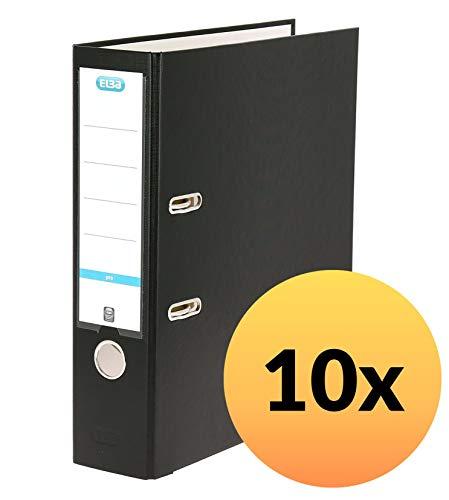 ELBA Ordner A4 smart Pro, 8 cm breit, schwarz, 10er Pack