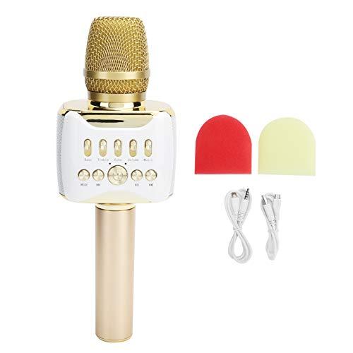 wendeekun Lautsprecher Bluetooth Wireless, 2-in-1-Handmikrofon mit beweglicher Spule, Gesangsbegleitung, 3D-Surround-Sound, Mehrfachreduzierungsgeräusche, Wireless-Genuss für Heim-Karaoke