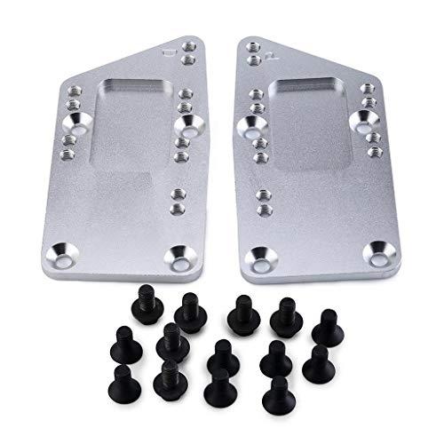 P Prettyia 2 Piezas de Placas de Montaje de Motor de Conversión de Coche Que Reemplazan La Pieza LS1 4 Posiciones de Intercambio