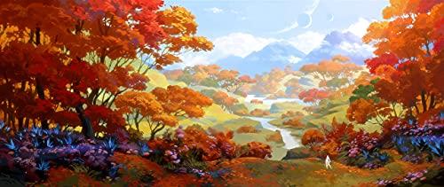 Amrzxz 1000 acertijos mentales「Bosque de otoño」Regalo de Juguete Juego de Rompecabezas
