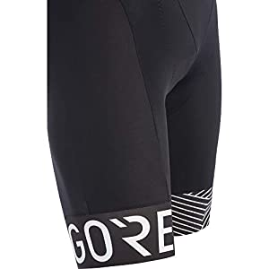 Gore Wear C5 OPTI Pantalón Corto Tirantes, Hombre, Negro/Blanco, L