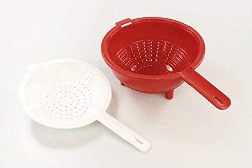 Tupperware Saladin Colador + Colador Utensilio de cocina rojo de color blanco 10033