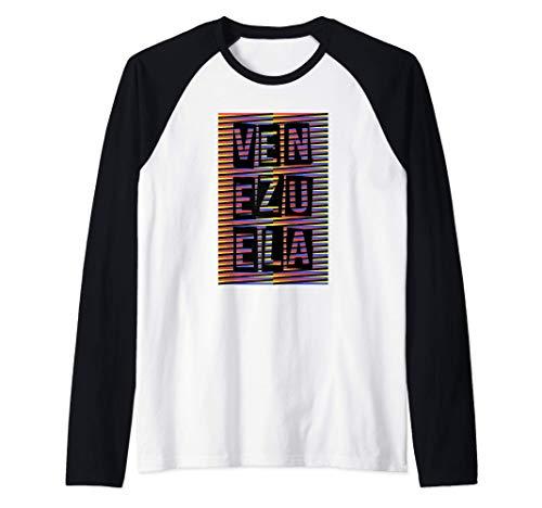 Venezuela diseño tradicional artístico cromático Camiseta Manga Raglan