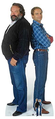 Star Cutouts CS797 Bud Spencer (Carlo Pedersoli) Terence Hill (Mario Girotti) Doppel-Pappaufsteller für Fans, Partys und Events, mehrfarbig