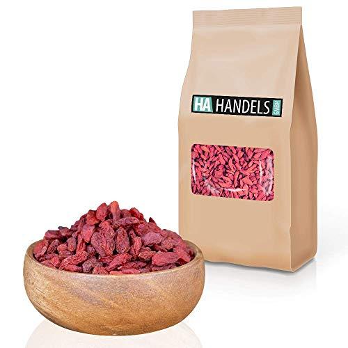 Goji Beeren getrocknet ungeschwefelt naturbelassen Gojibeeren ungezuckert Rohkost wiederverschließbare Verpackung 1kg bis 5kg (1kg)