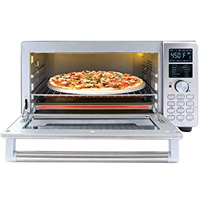 NUWAVE BRAVO XL 1800-Watt Convection Oven with Crisping and Flavor Infusion Technology (FIT) with Integrated Digital Temperature Probe for Perfect Results; 12 Programmed Presets; 3 Fan Speeds; 5-Quartz Heating Elements; Precision Temperature Control from