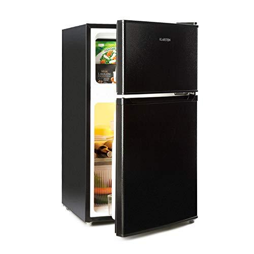 Klarstein Big Daddy Cool - Kühl-Gefrier-Kombination, 87-Liter: Kühlschrank mit 61-L und Gefrierschrank 26 L, ECOExcellence System,zwei Sicherheitsglas-Ebenen, schwarz