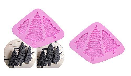 Eva Shop® Tannenbaum Resin Gießform Silikonform Weinachtsbaum Fondant Backform Kerzenform Seifenform Kristallform Epoxidharz Form Harzform Gipsform für Handwerk, Tischdekoration, Weihnachten UVM.