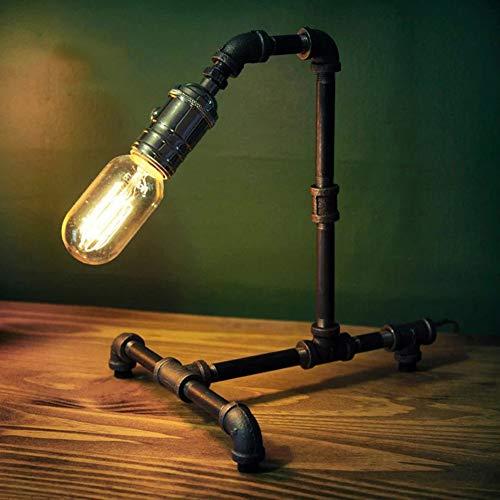 MJBOY bureaulamp kantoor Retro Cafe Decoratie Creatieve E27 tafellamp Handmade View Rost Zwart IJzer Waterslang tafellamp met dimmer