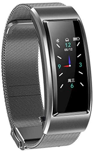 en 1 Smart Bluetooth Auricular Pulsera de Frecuencia Cardíaca de Monitoreo de Salud Reloj Inteligente Bluetooth Auricular Pulsera Pulsera-E