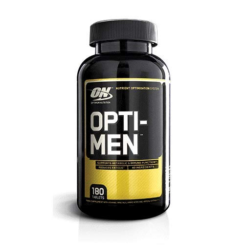 Optimum Nutrition Opti-Men Multivitamin Supplements for Men with Vitamin D, Vitamin C, Vitamin A and Amino Acids, 60 Servings, 180 Capsules