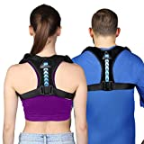 Updated 2020 Version Posture Corrector For Men And Women- Adjustable Upper Back Brace For Clavicle Support and Providing Pain Relief From Neck, Back and Shoulder