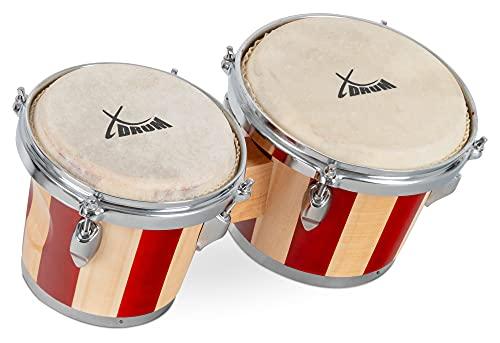 XDrum Bongos Retro - 2 Trommeln mit 15 cm (6