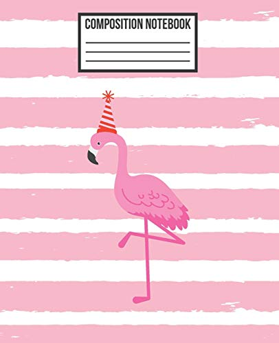 Composition Notebook: Merry Christmas Pink Pretty Flamingo Wide Ruled Blank Lined School Subject, Exercise Book for teachers, girls, kids, teens, ... (Flamingo Composition Diary Workbook, Band 1)