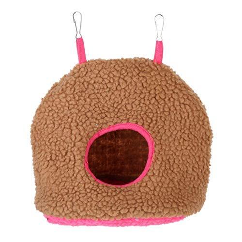 LIIYANN Vogelkäfige Nester Haustier Plüsch Hängehöhle für Vogel Papagei Komfortable Hängematte Zelt Bett Spielzeug für Vogelkäfig die Wärme des Frühlings