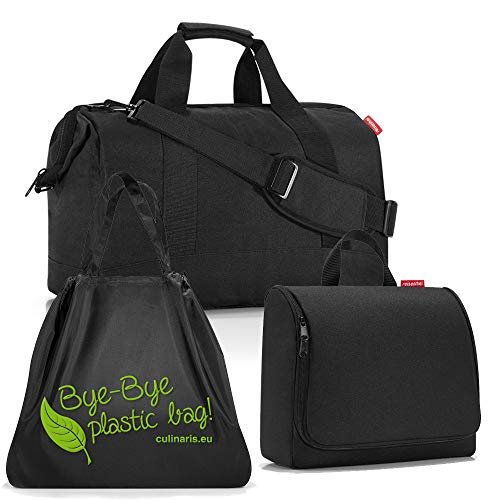 reisenthel Gilching reisenthel allrounder L mit toiletbag XL und wahlweise mit extra Zugabe Reisetasche Waschtasche (black+loftbag)