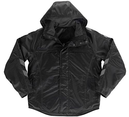 Preisvergleich Produktbild MASCOT® Hamburg Jacke Pilotjacke,  Kapuze abnehmbar,  gefüttert,  atmungsaktiv,  wind- und wasserdicht,  schwarz (XL)