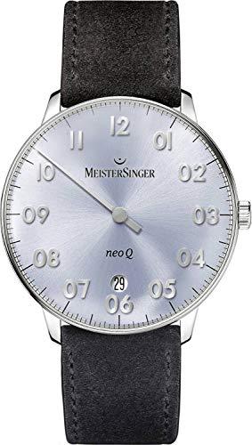 MeisterSinger Herrenuhr Einzeigeruhr mit Zusatzfunktion Neo Q NQ908N