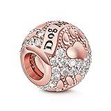 GNOCE Femme Charms de Chien en Argent Sterling 925 Or Rose Breloque Gravée Aime Mon Chien Compatible avec Bracelets et Colliers