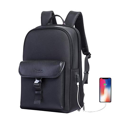 Business Laptop Backpack Travel Anti-Theft Slim Computer Rucksack with USB Charging for Men Waterproof College Backpack