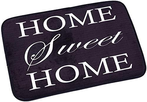 Hinleise Alfombrilla antideslizante para puerta, lavable a máquina, para interiores, con respaldo de bienvenida, suministros para el hogar (hogar, dulce hogar)