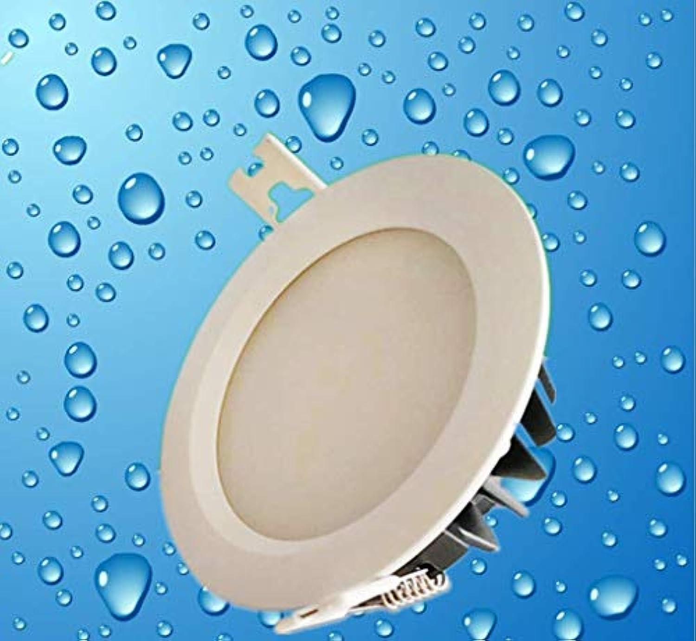 Deckenleuchteninnenbeleuchtung, Geführtes Innenfeuchtigkeitsfestes Geführtes Scheinwerferfeuchtigkeitsfestes Wasserdichtes Badezimmer, Das Decke Downlight 220V, 3000K ffnet