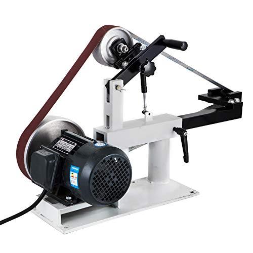 Mophorn Lijadora de Banda de 50 mm x 2082 mm Lijadora de Cinta Multifuncional 3 en 1 Lijadora de Banco 1500 W 2 HP (Velocidad Variable)