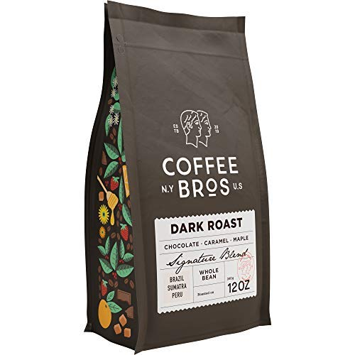 Coffee Bros., Dark Roast Whole Bean — 100% Arabica — 1 Bag (12oz) — Gourmet & Specialty — Great Holiday Gift