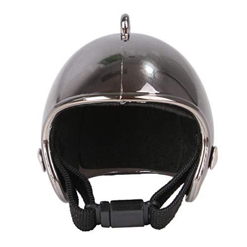 ULTECHNOVO Kip Helm Grappig Huisdier Beschermende Kleding Kostuums Bescherming Accessoires Voor Zon Regen Voor Huisdier Vogel Kippen (Zwart)