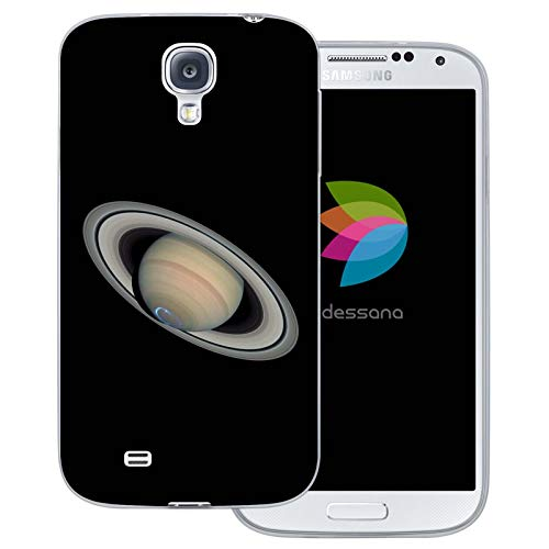dessana Planeten transparente Schutzhülle Handy Case Cover Tasche für Samsung Galaxy S4 Saturn