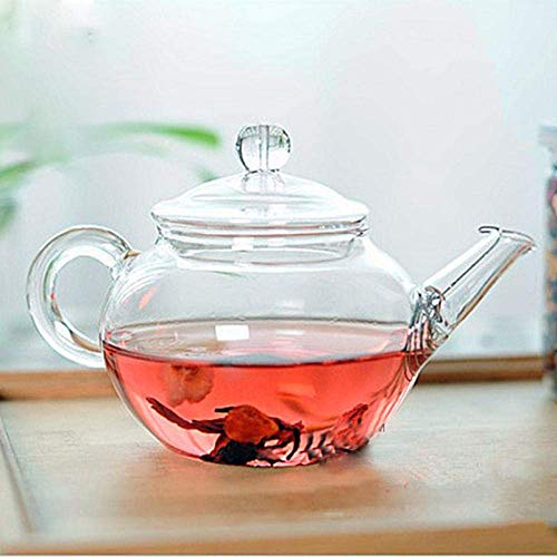 KANJJ-YU Glass Glass Kettle Transparent Heat Resistant Glass with Chinese Infuser Coffee Flower Tea Leaf Herbal Pot 250ml Durable Kettle Gift Kettle
