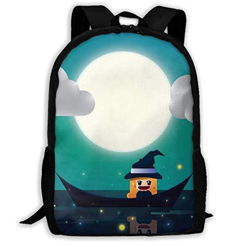 College Tagesrucksack,Reiseeucksack,Schultaschen,Lässiger Rucksack,Rucksack Halloween Spaß Herbst Eichhörnchen FAL Student Laptop Bagpack, Adult School Rucksack