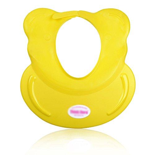 Bonnet de douche Children Shampoo Hat Protecteur imperméable à l'eau Silicone Baby Bath Bath Cap réglable (Couleur : Le Jaune)