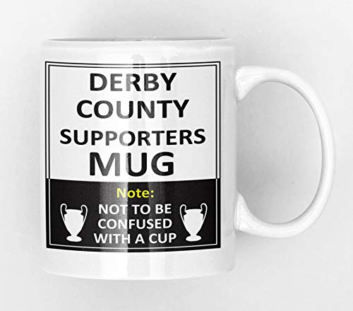 Derby County Football Club Supporters Rival Team Joke Funny New and Easy Office Tea and Coffee Mug Gift