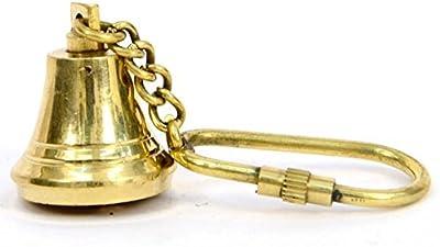 Amazon.com: Artshai náutico campana de latón llavero: Home ...