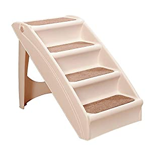 PAWISE Foldable Dog Step Premium Nonslip Stairs for Small Dogs and Cats to Walk