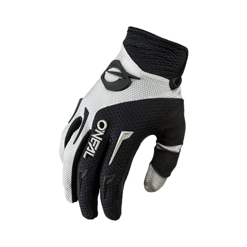 O'NEAL | Fahrrad- & Motocross-Handschuhe | MX MTB DH FR Downhill Freeride | Langlebige, Flexible Materialien, belüftete Handinnenfäche | Element Glove | Herren | Schwarz Grau | Größe M