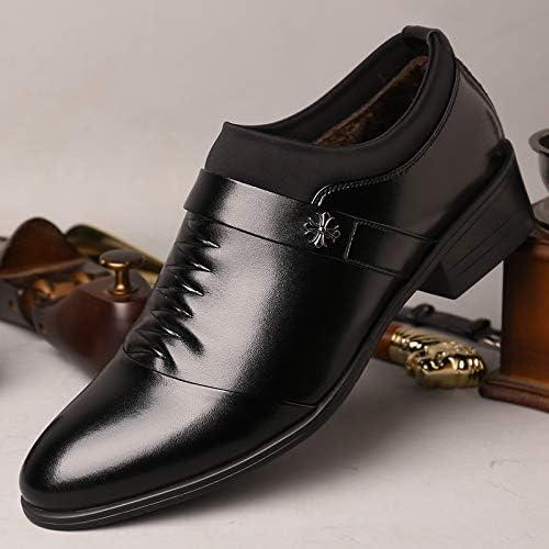 LOVDRAM Chaussures Hommes Printemps Nouveaux Chaussures De Mode des Hommes De La Robe De Mode des Chaussures en Cuir des Hommes en Pointé Ensembles De Pieds Bas Chaussures Chaussures Hommes