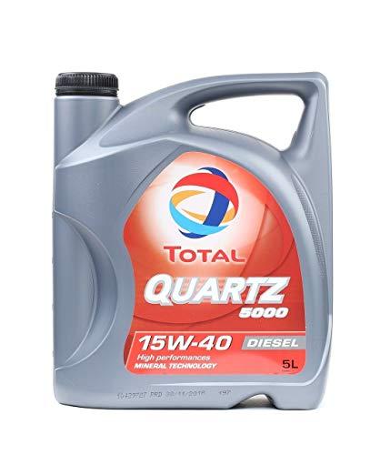 Total Quartz 5000 15W-40 Multigrade Diesel Engine Oil, 5 L