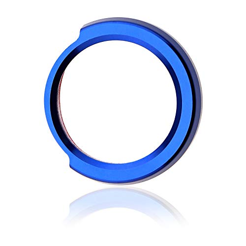 Start Stop Druckknopf Blau Aluminium Auto Zündung Schalter Dekoration Ring Abdeckung