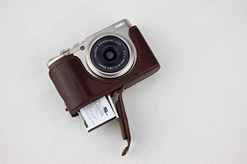 Funda para cámara XF10, Zakao de Piel auténtica, Apertura Media Parte Inferior, Funda para cámara con Correa de Mano, Funda Protectora para Fujifilm Fuji XF10