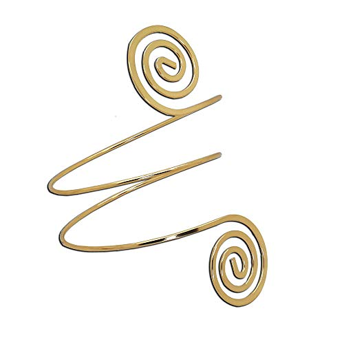 tumundo Armreif Armband Armspange Oberarmreif Arm Spange Zart Armreifen Silbern Golden Bangle Spiralen Damen Accessoires Vintage, Farbe:Modell 5 - golden