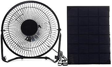 Ventilateur en Métal Noir Actionné par Panneau Noir D'Été + Usb 5W, Ventilateur de Refroidissement de Voiture de Ventilati...
