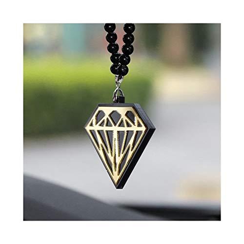 SHOYY Forma del Coche de la Manera de acrílico Encanto de la Personalidad automático Espejo Retrovisor Interior Ornamentos Colgantes Collar de Perlas de decoración