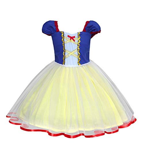 LUCHA Kinder Mädchen Prinzessin Schneewittchen Kostüme Anzieh Halloween Geburtstag Party Cosplay Outfit