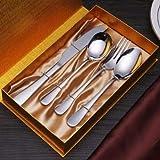 Juego de Cubiertos de Acero Inoxidable 210 | Juego de Cuchillos, Tenedores y cucharas | Servicio 4 |