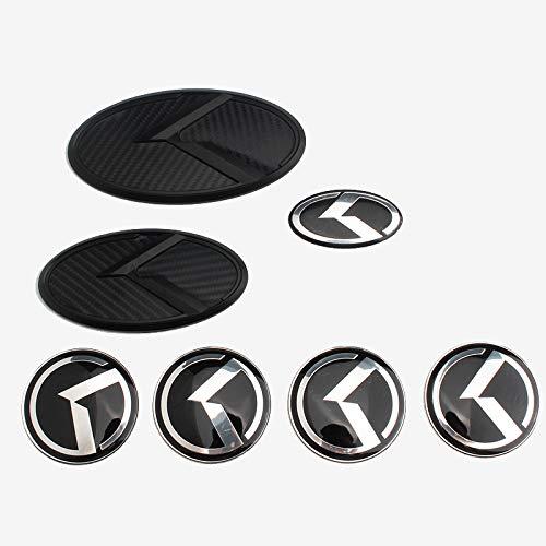 D28JD Logo-Emblem für Karosserie ABS Buchstaben Aufkleber für K-ia Sorento K5 KIA VIP Kflight,Carbon Fiber Black