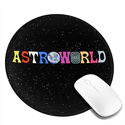 Ahdjagsads56 Astroworld Travis Scott Round Mouse Pad 7.9x7.9 in£¨1/2/4 Pcs£with Non-Slip Rubber Base and Stitched Edges